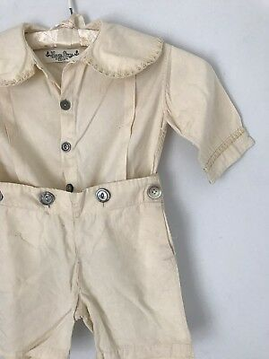 VERY RARE antique, turn of the century, early 1900's toddler R.H. White outfit