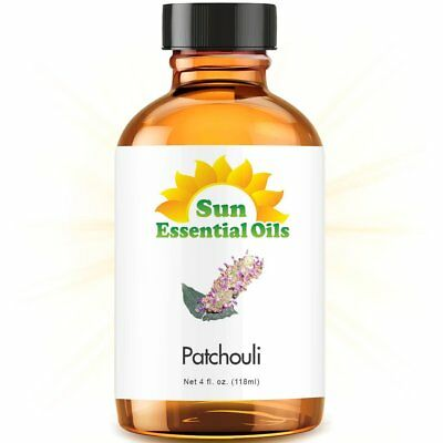Patchouli Essential Oil (Large 4oz) 100% Pure Amber Glass Bottle + Dropper