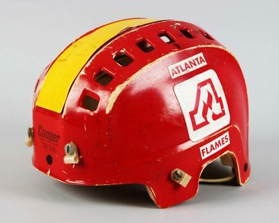 Atlanta Flames – Dan Bouchard Game-Worn Hockey Helmet