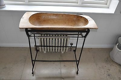 Antique wooden wash bowl and Stand