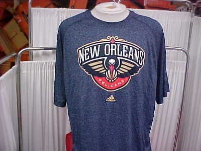 NBA 2012-2013 New Orleans Pelicans Players Issued Navy S S Training Shirt Sz 532933a30