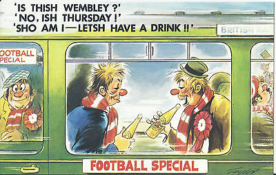 Vintage 1970's Bamforth COMIC Postcard (as new condition) Lets drink #256