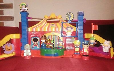 lot Fisher price little people cirque + personnages