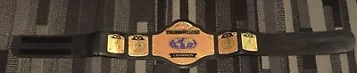 Wwe wcw television belt very rare early version velcro fastening metal plates