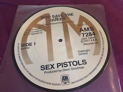 Sex Pistols – God Save The Queen RARE reissue PICTURE DISC