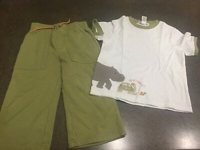 Janie & Jack Boys Forever Friends Shirt And Pants  Sz 18-24 MOS