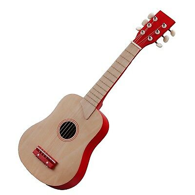 New Classic Toys Guitar (Nature/Red). Delivery is Free