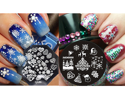 PIASTRA-NAIL ART Stamping-NATALE-CHRISTMAS Plate stamping TEMPLATE !!