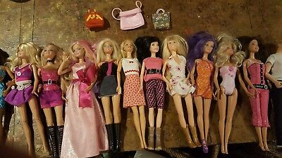 Lot of 11Vintage Barbie Mattel 1991- 2010 with Clothes and 1 Cody Simson
