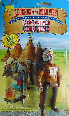 "GERONIMO -  Legends of the Wild West - 4"" Action Figure - 1991 - New"