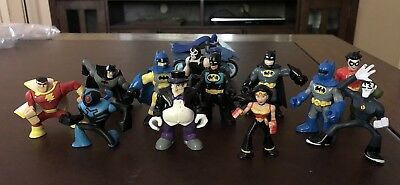 Lot of 13 Loose BATMAN and other DC Comics Action Figures - Cake Toppers