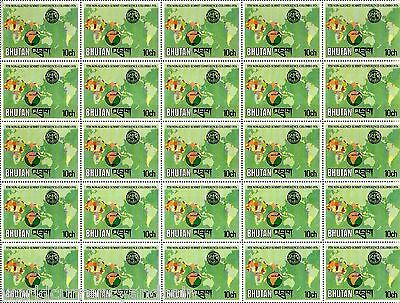 Bhutan 10 25 1976 Rare Unissued Stamps Complete Mint Sheets Nam Colombo Summit
