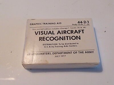Aircraft Recognition Cards, Graphic Training Aids Cold war W7
