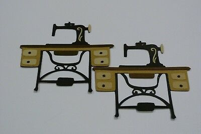 Sewing Machine Pack Of 2  Fully Assembled Die Cuts