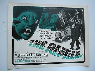 The Reptile rare rolled Hammer horror half-sheet famous British monsters sci-fi