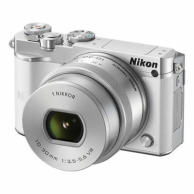 Nikon 1 J5 Mirrorless Digital Camera with 10-30mm Lens (White)