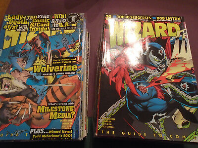 Wizard Comic Magazine Lot early issues #26-50 All 25 issues F+ to NM 25 issues!!