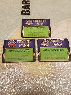 3x alton towers priority pass. fast track