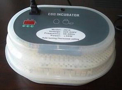 12Eggs Digital Incubator Automatic Egg Turning Chicken Poultry Duck Bird Hatcher