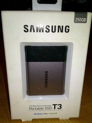 Samsung T3 250GB SSD Portable Solid State Drive USB 3.1 - Windows/ Mac / Android