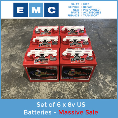 US Battery Set - 6 x 8 Volt - Massive Sale