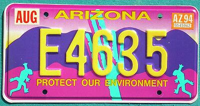 1994 Arizona  PROTECT OUR ENVIRONMENT  license plate
