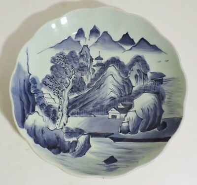 Large Antique 19Thc Chinese Qing Blue De Hue Porcelain Charger Bowl Plate Dish