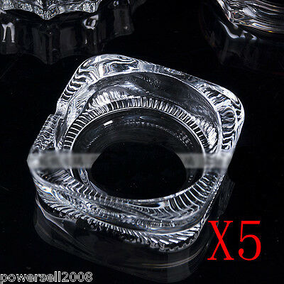 5X Simple Classic Transparent Crystal Glass Household Hotel Use Ashtray NN