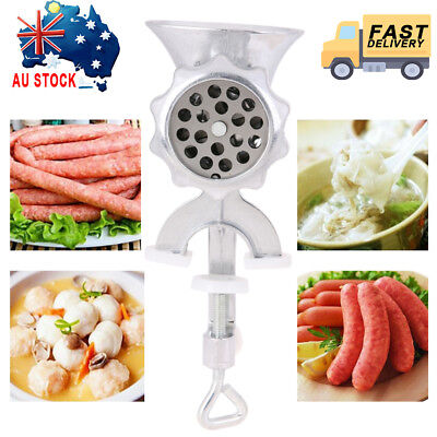 Cast Iron Manual Meat Sausage Grinder Mincer Table Hand Crank Tool for Kitchen