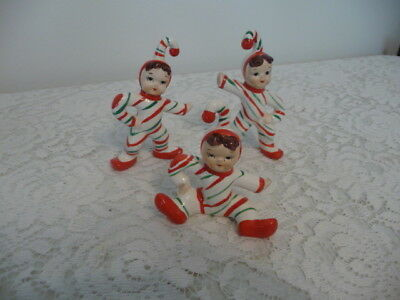 Vintage Christmas Candy Cane Kids  -Japan