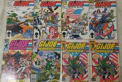 GI Joe Special Missions 1-4,Order of Battle 1-4,Yearbook 2-4 Marvel Comics 13