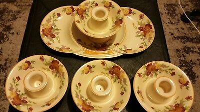 ROYAL DOULTON MARIGOLD D5126 x4 candlestick holders (see pictures)