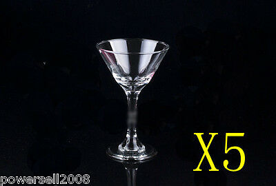 5X 210ML Crystal Glass Red Wine Foreign Wine Goblet Multi-Use Cocktail Cup NN