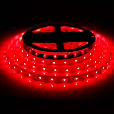 Red 5M 60Leds/M SMD 3528 Flexible Led Strip Lights Tape Non-Waterproof 12V2A