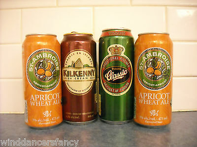Lot 4 Collectble Beer Cans St Ambroise Apricot Kilkenny Irish Crm Tuborg Iceland