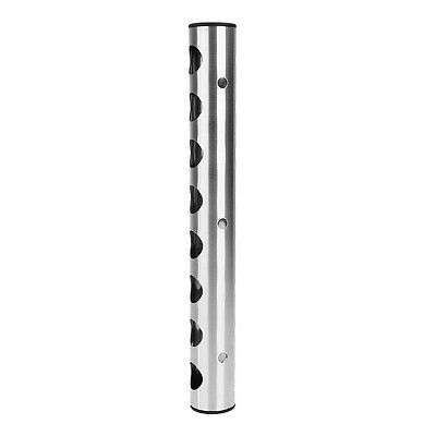Stainless Steel 8 Hole Bottle Wall Mounted Bar Wine Racks Holders Stand