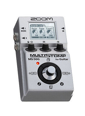 Zoom MS-50G Multistomp Chorus Delay Reverb Effects Electric Guitar FX Pedal