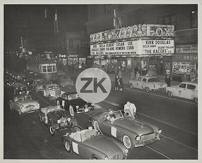 THE RACERS Voiture COURSE Hathaway CINEMA Movie FOX Theatre Car Race Photo 1955