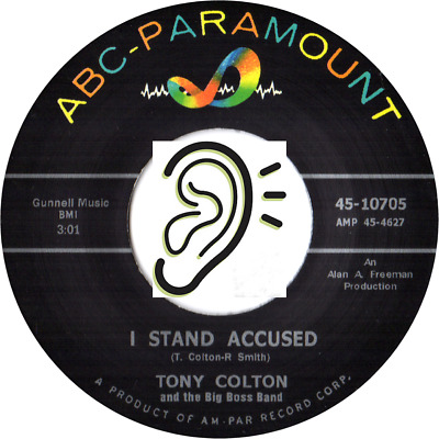 Tony Colton - I Stand Accused / Further On Down The Track - Mod Soul
