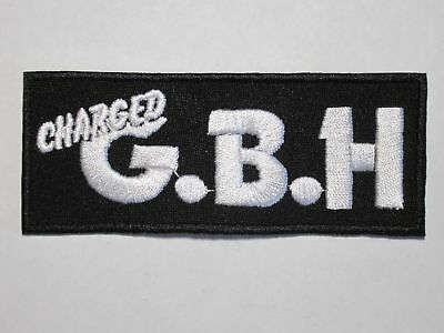 CHARGED G.B.H. logo embroidered NEW patch hardcore punk