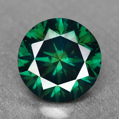 Blue Green Diamond Round 1.69 cts Loose Diamond Fancy Natural F729