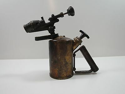Vintage Antique Brass Gasoline Blow Torch, G.barthel / Welding