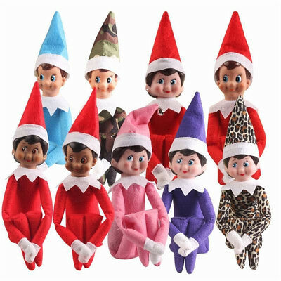 Colorful Christmas toys Gift Figure Elf Magic Red Boys Girls Plush Doll Gifts
