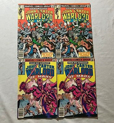 Lot Of 4 John Carter Warlord Of Mars Comics (Marvel,1979) #26,28..  Bronze Age