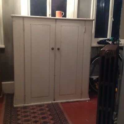 Fabulous Antique Hall Cupboard Bathroom Cabinet Linen cupboard