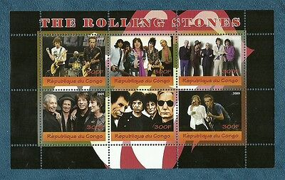 Music - THE ROLLING STONES - commemorative  stamp sheet