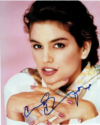 CINDY CRAWFORD - Signed colour photograph