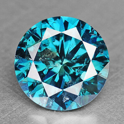 Vivid Blue Diamond 1.12 cts Round Loose Diamond Fancy Natural F721