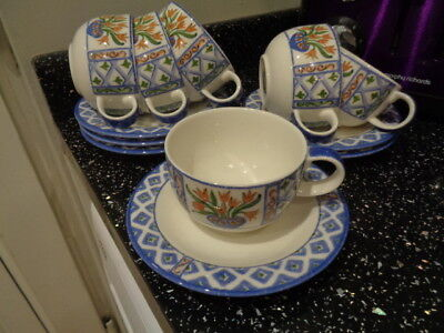 Marks And Spencer Toscana Cups And Saucers X 6