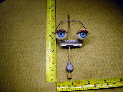 vintage pair acrylic glass eyes on a rocker age 1950 for Celluloid Doll Art 1360